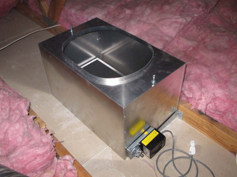 Fan damper box