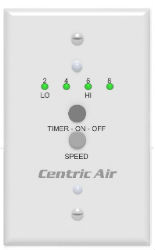 2 Speed CentricAir Wall Switch WT