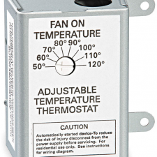 Centricair attic fan adjustable thermostat